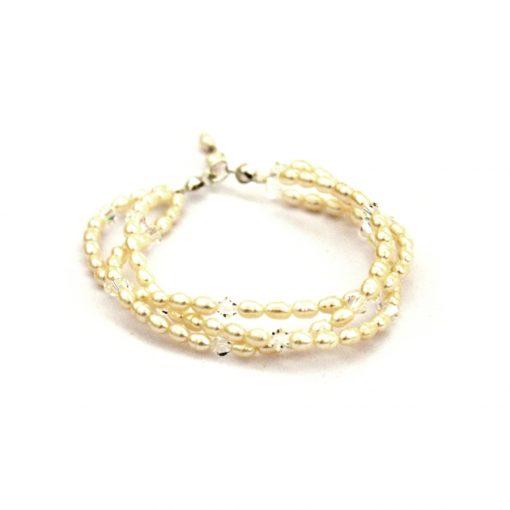 Twisted Pearl Bridal Bracelet