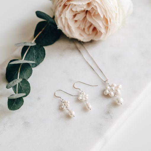 Naomi Pearl Bridal Earrings