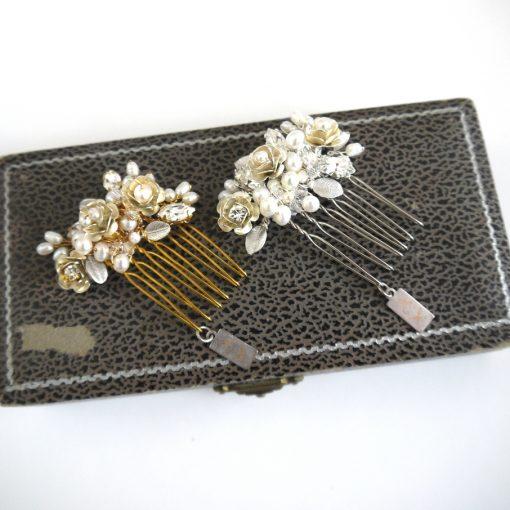 Primrose Flower Bridal Comb