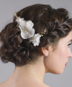 Forget Me Knot Bridal Lace Flower Hairpins
