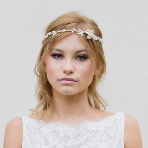 Starflower bridal headpiece