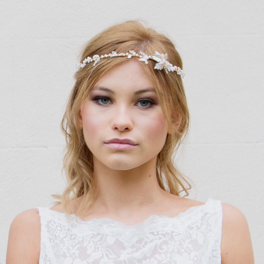 Starflower bridal headpiece