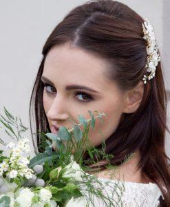Jasmine bridal hair comb