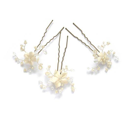 Violet Bridal Hairpins