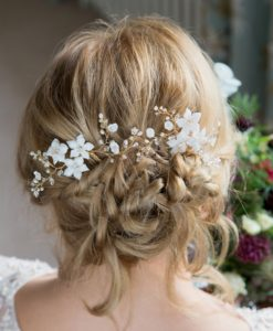Clematis Wedding Hairpin