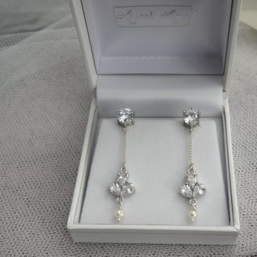 Garland bridal earrings