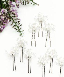 Violet hairpins