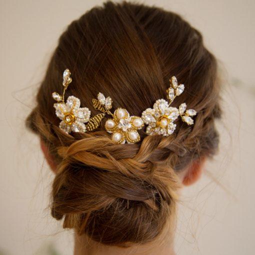 Geranium Bridal Hairpins