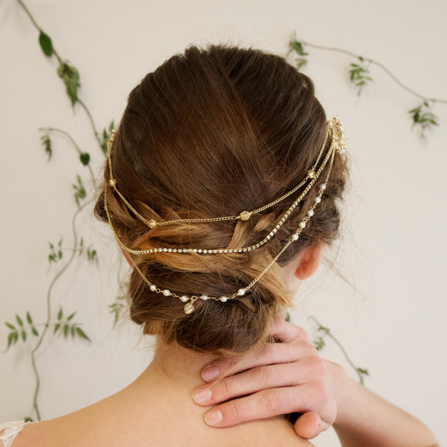 Slipper Orchid Hair Drape