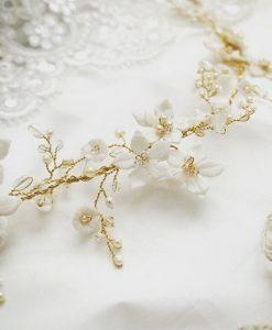 Clematis Bridal headdress