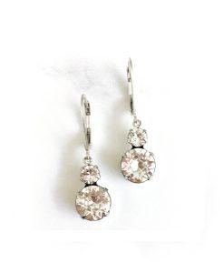Olive Drop Crystal Earrings